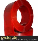 Schweißerschutz PVC Rot transparent DIN 1598