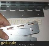 PVC Streifenvorhang, Einzelteile, Zubehör