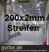Streifenvorhang PVC 200x2mm (Komplett fertig)