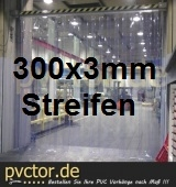 PVC Lamellenvorhang 300x3mm ( Komplett )