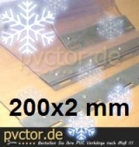 PVC Kühlhaus Streifen 200x2mm / 20cm