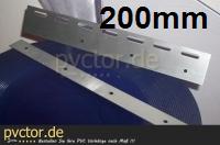 Edelstahl Haltebleche für PVC Streifen 200mm
