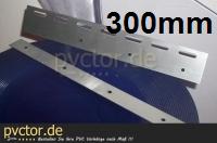 Klemmbleche für PVC Streifen 300mm aus Edelstahl