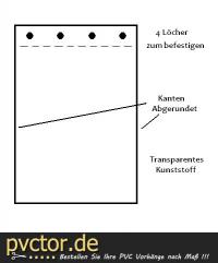 Hundeklappe mit abgerundete Kanten - transparent 70cm Lang