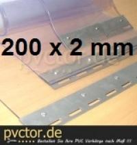 Meterware PVC 200x2mm pro Meter als Zuschnitt