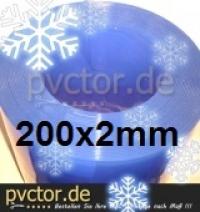 25m Tiefkühl PVC Rollenware 200x2