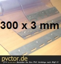 1,00 m² Streifenvorhang 300x3mm PVC