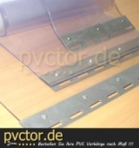 20cm PVC Lamellen transparent, inkl. Bleche, fertig auf Länge zugeschnitten