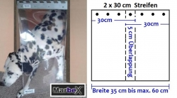 Hundeklappe Hundetür 40 x 40-60 cm