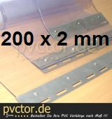 PVC Streifen 200x2mm - pro Meter