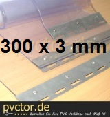 PVC - Ersatzstreifen 300 x 3 mm ( Klar )