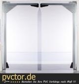 PVC - Platten für Pendeltür 7mm
