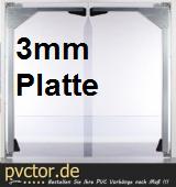 PVC - Platten für Pendeltür 3mm