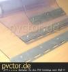 PVC Streifen transparent, inkl. Bleche, fertig auf Länge zugeschnitten