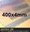 Transparente Streifen von der PVC Rolle 400x4mm