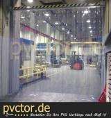 Industrievorhang transparent - transparente Streifen - PVC Lamellen